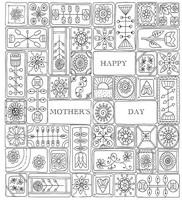 Adult coloring page Mother's day card