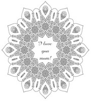 Adult coloring page Mother's day mandala