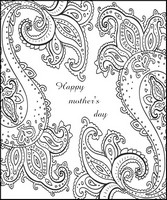 Adult coloring page Happy mother's day card