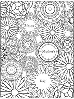 Adult coloring page Mother's day