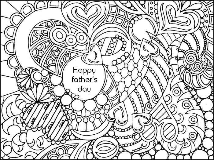 Adult coloring page Father\'s day 2