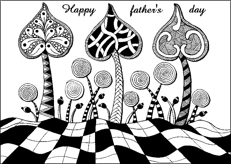 art therapy coloring page father 39 s day 4. Black Bedroom Furniture Sets. Home Design Ideas