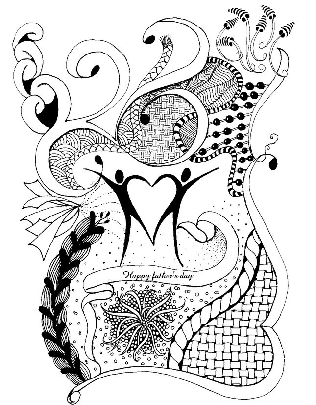 Adult Coloring Pages Father\'s day