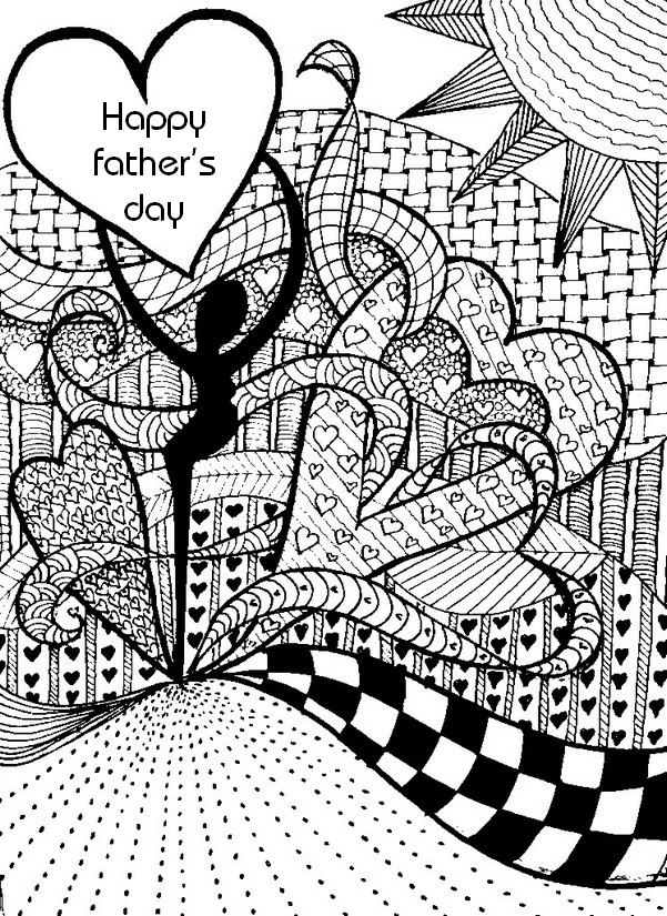 Art therapy coloring page father 39 s day 8 - Coloriage fete des peres ...