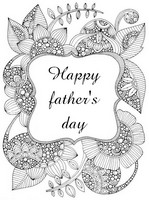 Art Therapy coloring page Happy father's day