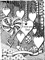 Art Therapy coloring page I love you Dad