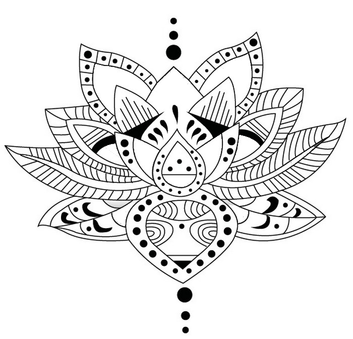 half flower coloring pages - photo #40
