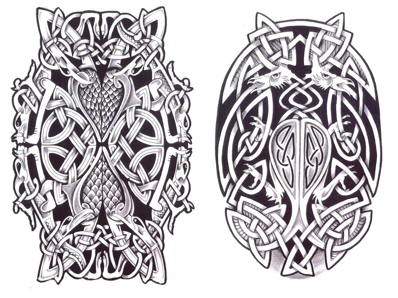 Adult Coloring Page Tattoos Celtic Tattoo 4