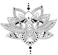 Art Therapy coloring page Tattoo: lotus