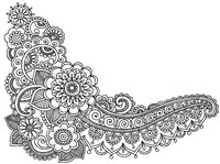 Art Therapy coloring page Tattoo: flowers
