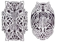 Art Therapy coloring page Celtic tattoo