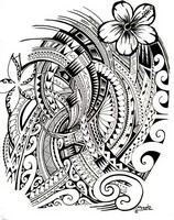 Art Therapy coloring page Polynesian tattoo