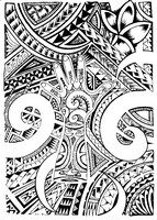 Art Therapy coloring page Maori tattoo