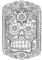 Art Therapy coloring page Tattoo: death's-head