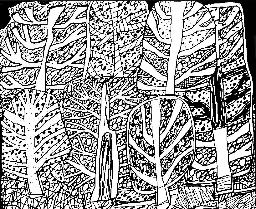 Coloriage Adulte Foret.Coloriage Anti Stress Jean Dubuffet Jean Dubuffet A La