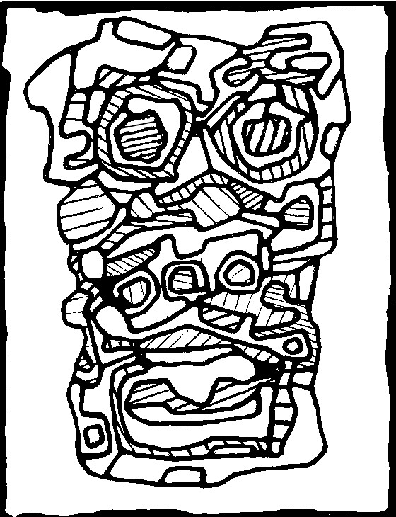 Coloriage anti-stress Jean Dubuffet