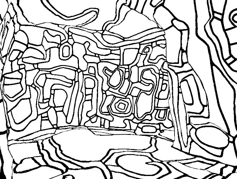 Coloriage Anti Stress Jean Dubuffet Jean Dubuffet Le Jardin D