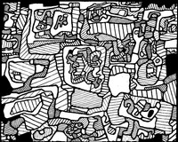 Adult coloring page Jean Dubuffet: Site Inhabited by Objects