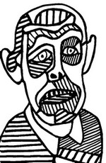 Adult coloring page Jean Dubuffet: Self Portrait