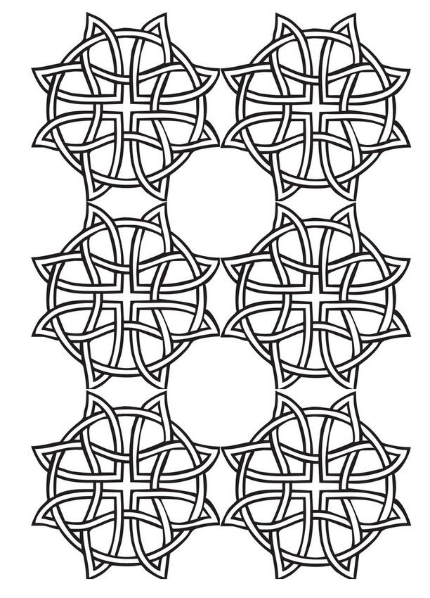 Dibujo para colorear relajante patrones geometricos 1 - Coloriage geometrique ...