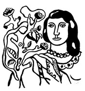 Art Therapy coloring page Woman and flower