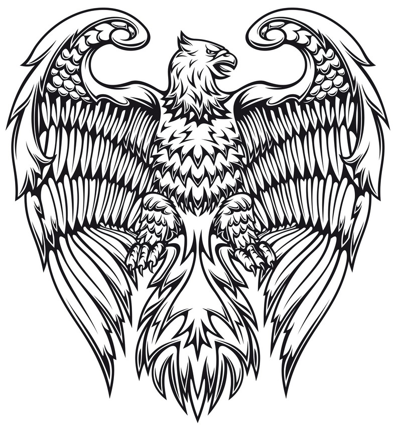 art therapy coloring page fantastic animals   griffin 5