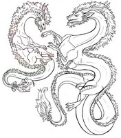 Art Therapy coloring page Dragons