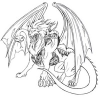 Art Therapy coloring page Chimaera