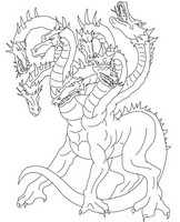 Art Therapy coloring page Hydra