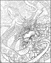 Art Therapy coloring page Kraken