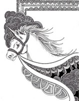 Coloriage adulte Licorne