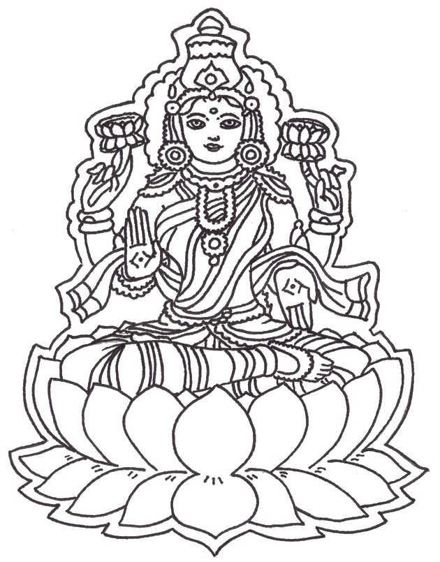 Art Therapy Coloring Page India Hindu God 5