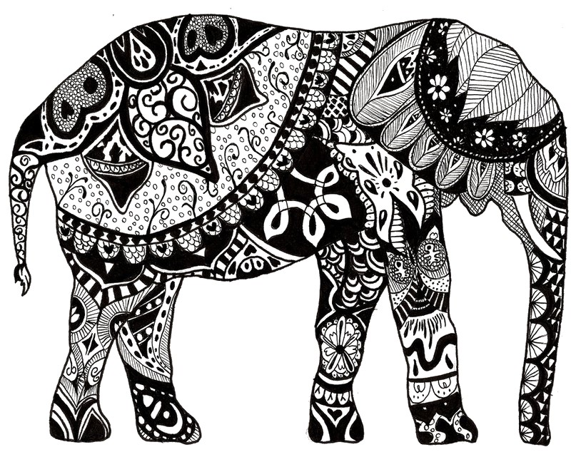 indian elephant more coloring pages - Coloring Pages Indian Elephants