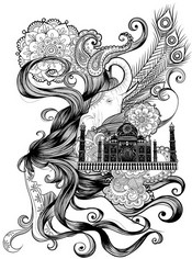 Art Therapy coloring page India