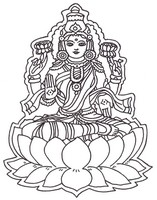 Art Therapy coloring page Hindu God