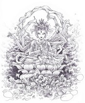 Art Therapy coloring page Hindu Goddess