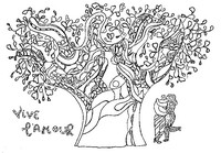 Art Therapy coloring page Vive l'amour
