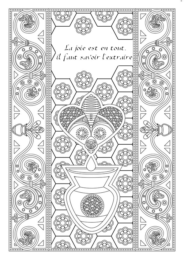 Coloriage Adulte Citation.Citation A Colorier