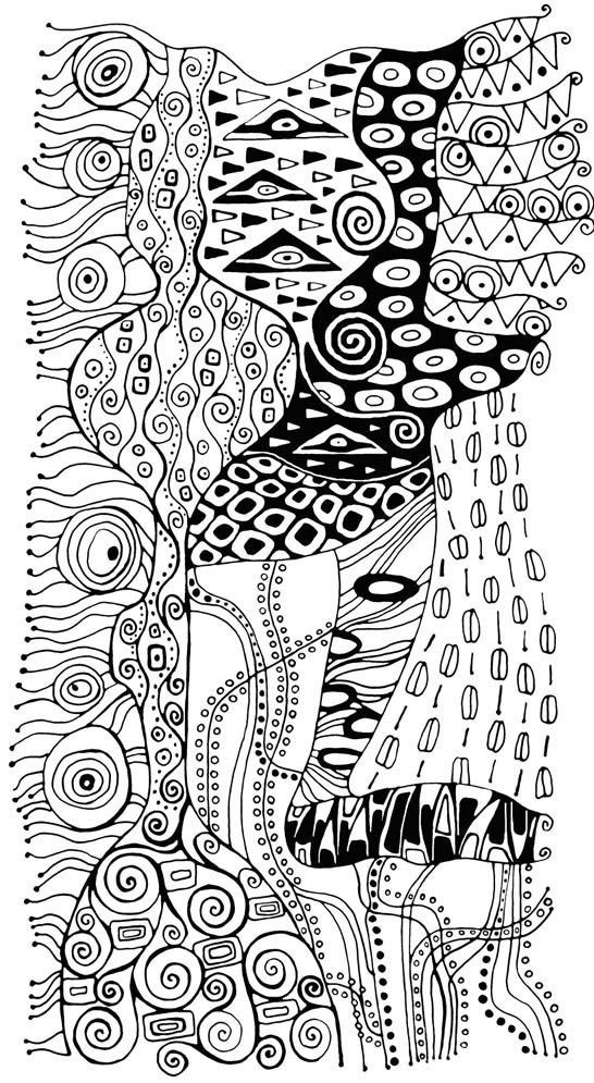 Art Therapy Coloring Page Gustav Klimt 4