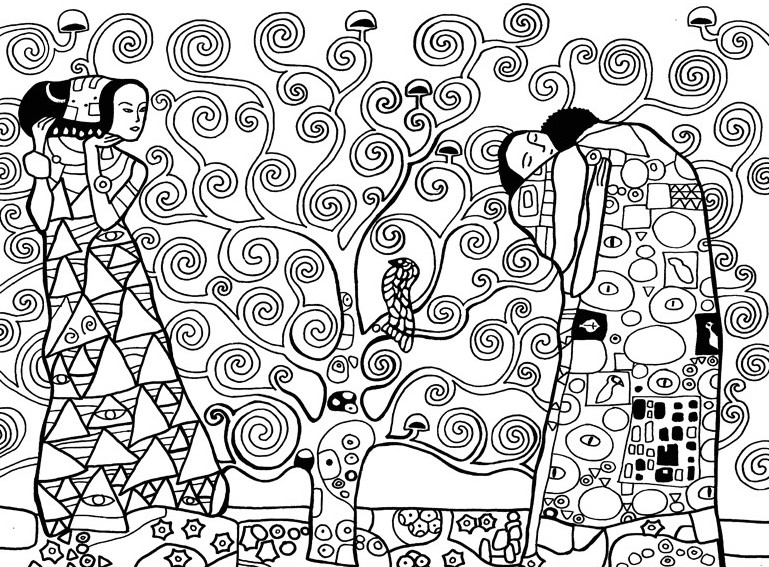Coloriage Arbre Anti Stress.Coloriage Anti Stress Gustav Klimt 7