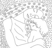 Art Therapy coloring page Mother and child
