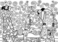 Art Therapy coloring page Gustav Klimt